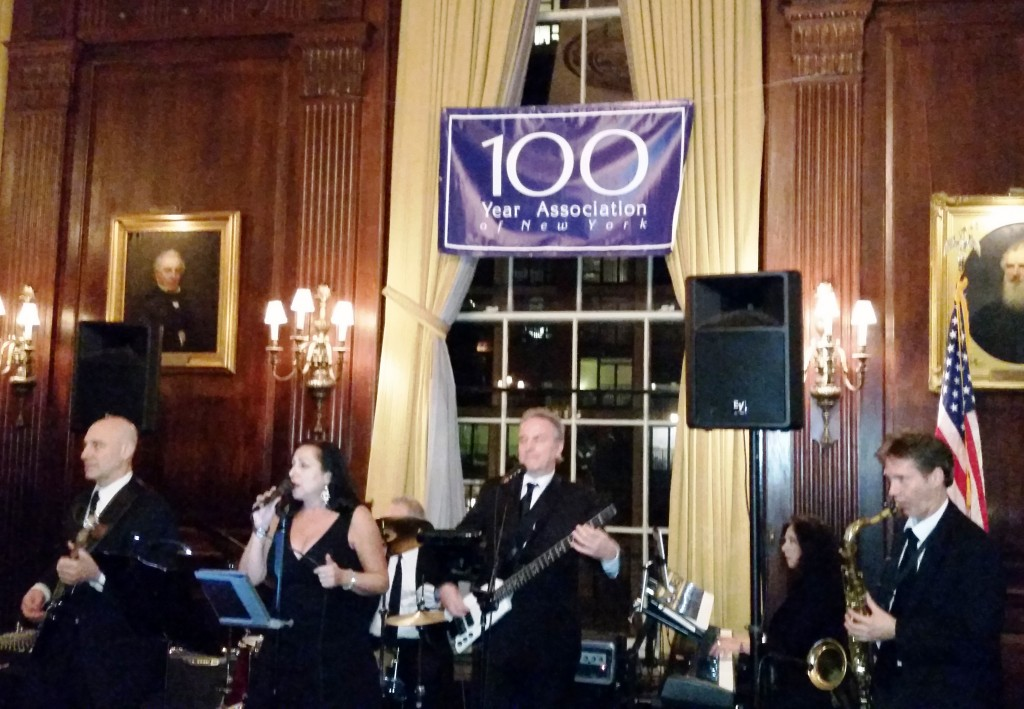 The Paul Errico band kicks off the rest of the night with classic hits.