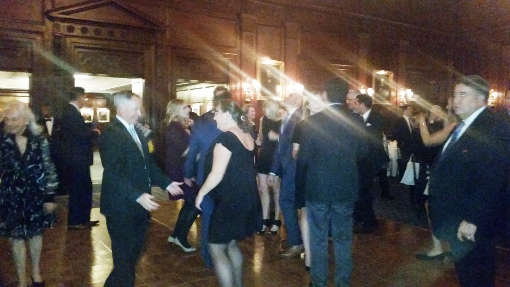 Attendees liven up the dance floor as the night comes to an end.