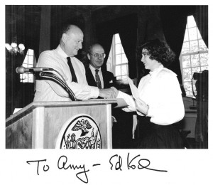 AMy Barrett and Ed Koch